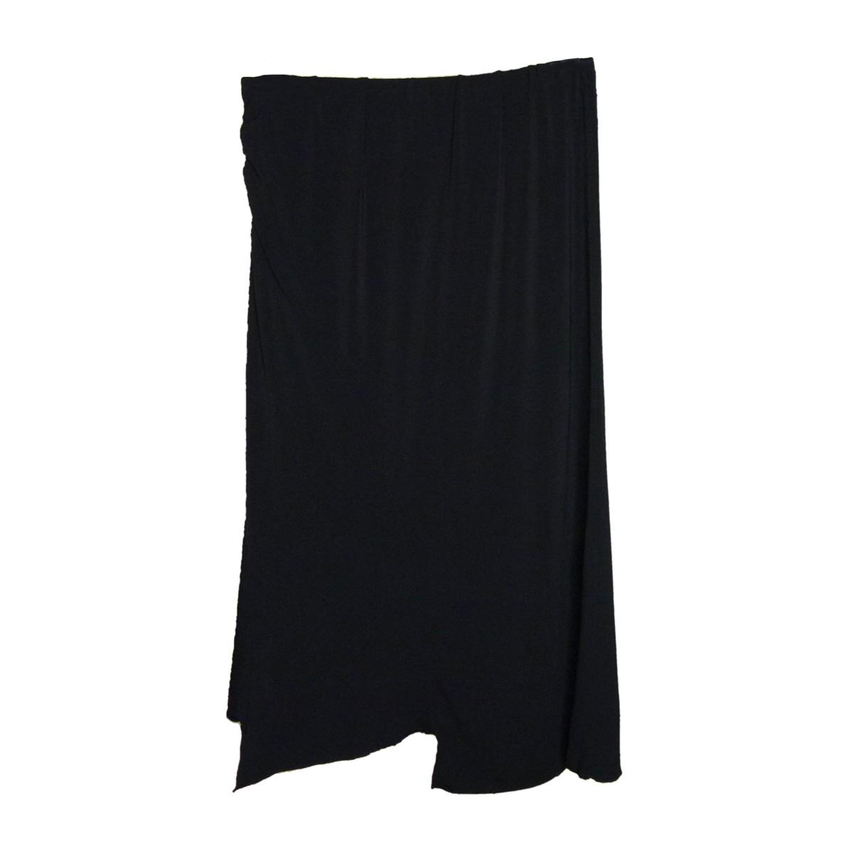 Asymmetrical Hem Evening Skirt in Black