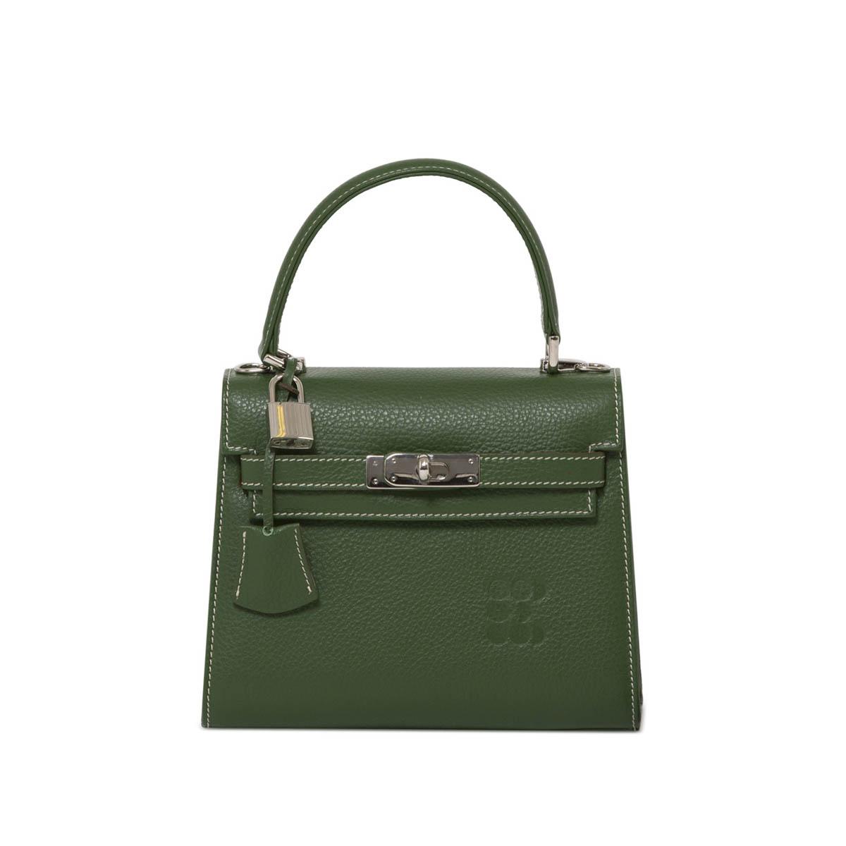 "Bags - ""Hermessina"" Mini Bag - Emerald Green"