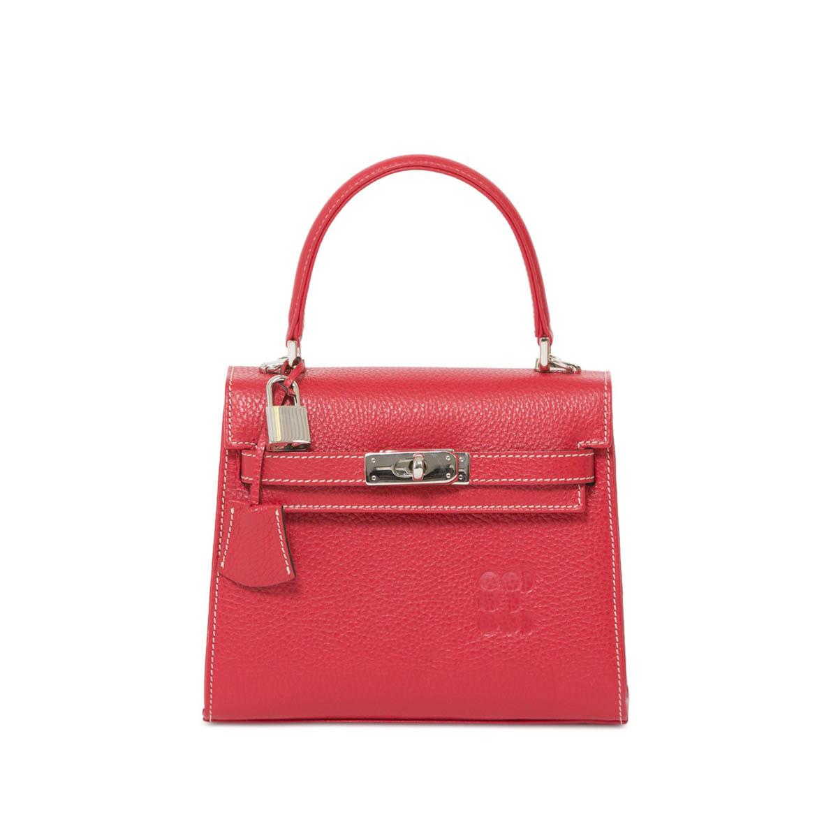 """Hermessina"" Mini Bag - Raspberry Red"