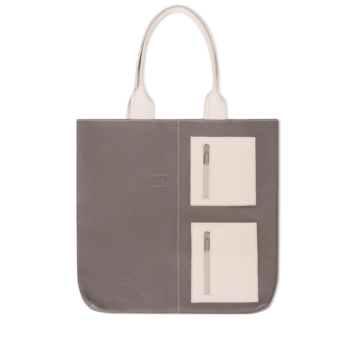 """Bags - """"Juxtapose"""" Hobo Bag – Grey Ecru"""