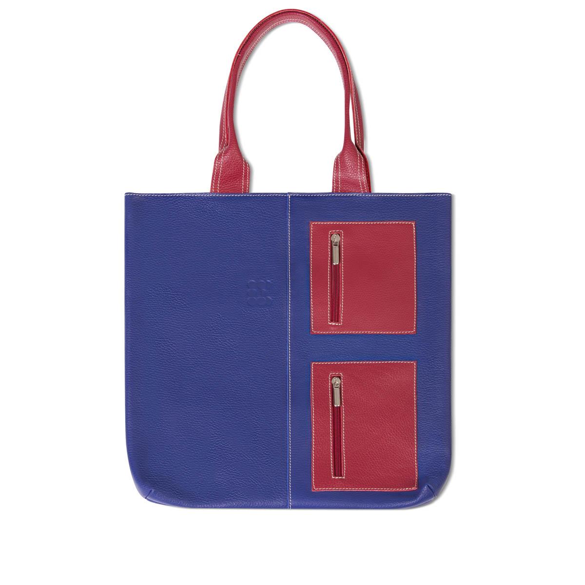 "Bags - ""Juxtapose"" Hobo Bag – Navy Burgundy - 01"