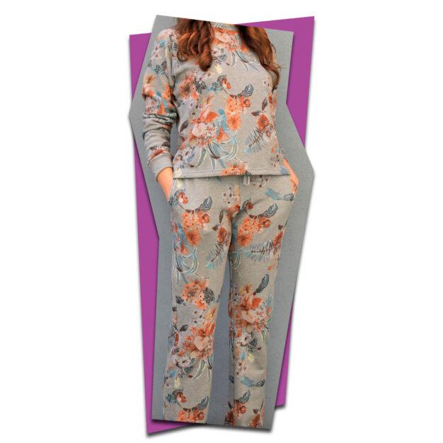 Floral Burst Loungewear Tracksuit
