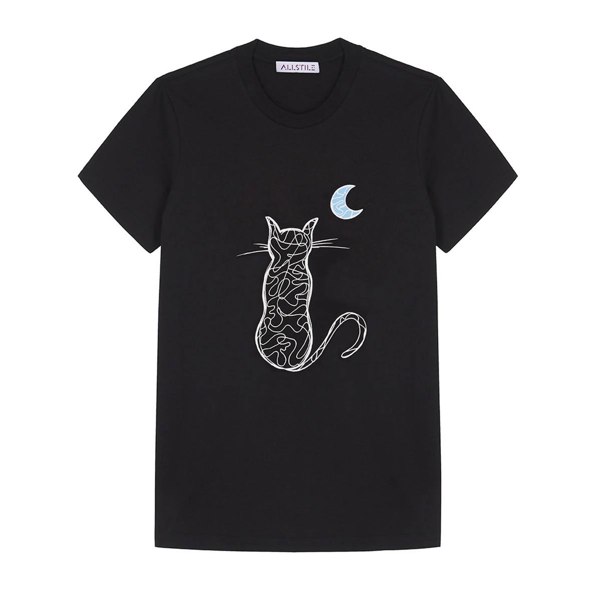 Clothing - Luna Catum T-Shirt - Black