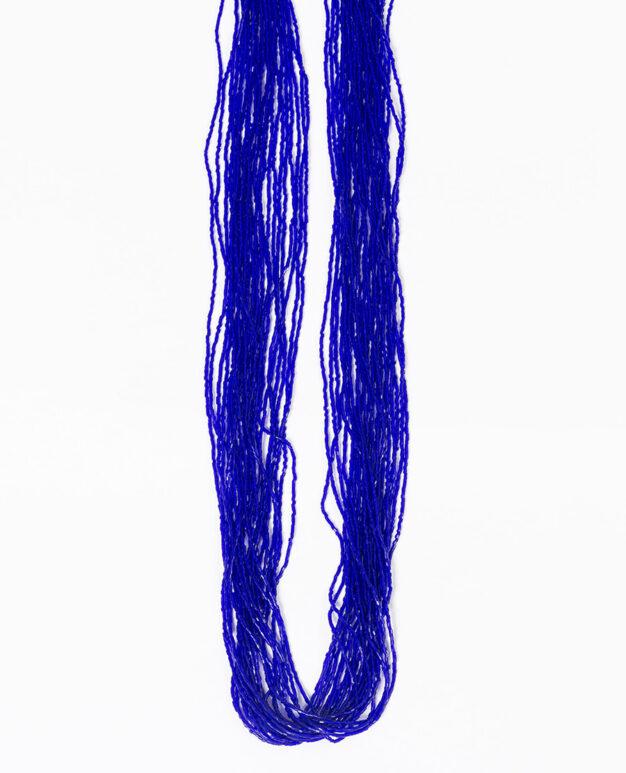 Long Shiny Scarf - Electric Blue