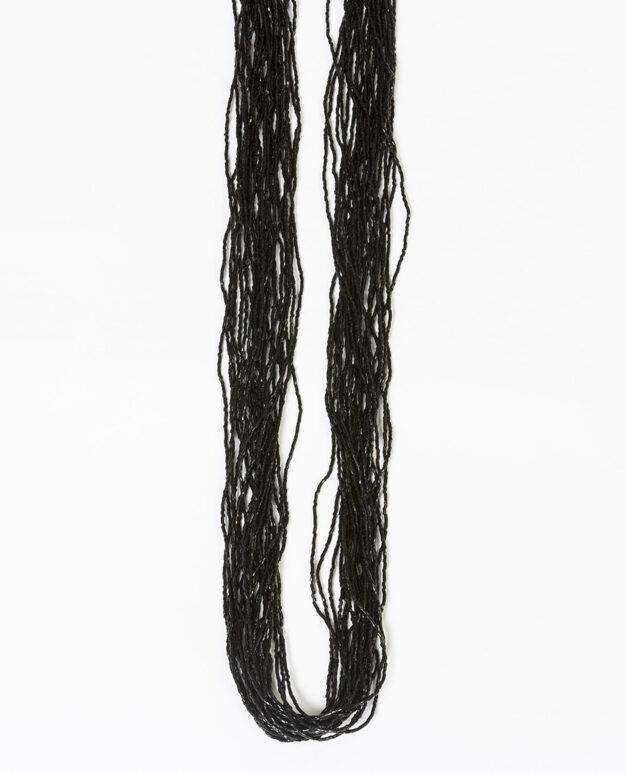 Long Shiny Scarf - Black