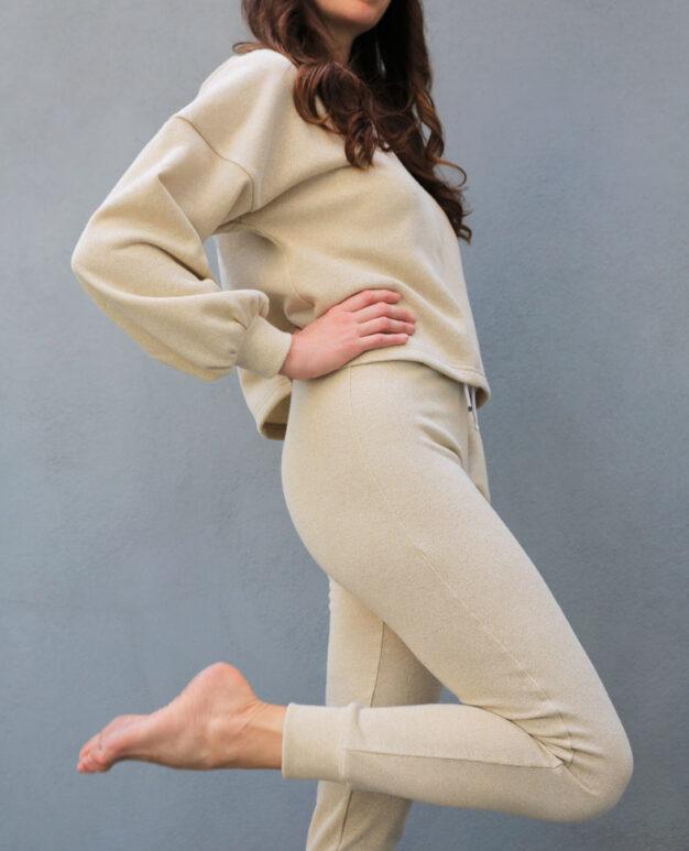 Glitzy Brighton Pebble Lounge Suit Beige