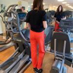 Heavyweight Knit Joggers In Orange