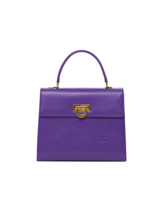 """""""Preziosa"""" Bag With Detachable Strap - Purple"""